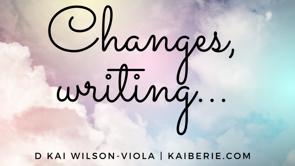 Changes, struggling with writing and more…#mondayblogs